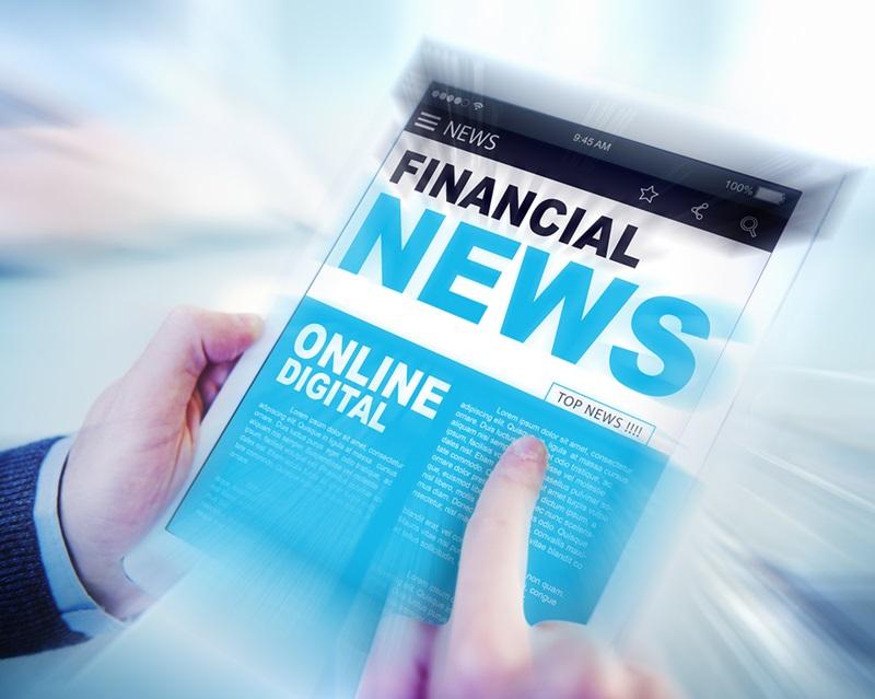 Digital Online Update Financial News Concept